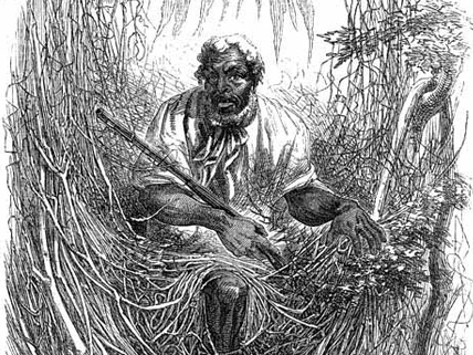 escaped slave in Great Dismal Swamp