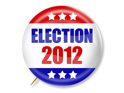 Election 2012 political button