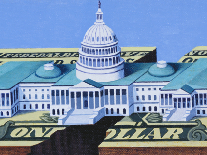 Capitol and dollar bill