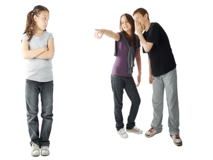 kids engaged in social bullying