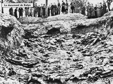 mass grave at Katyn Forest
