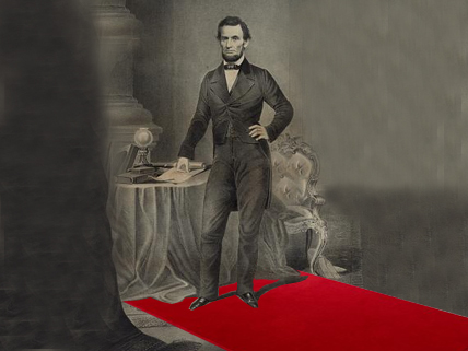 image of Abraham Lincoln on a red carpet