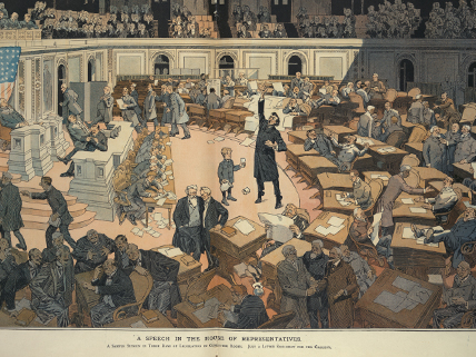 image of 19th-century U.S. Congress in session