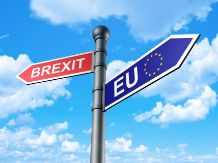 Brexit Direction Sign 3d; Shutterstock ID 422362465; Material Code: 1475653; GL code: 6812000 ; Title_Project: Current Events Online; Other: 081016_3087_Diana Goetting