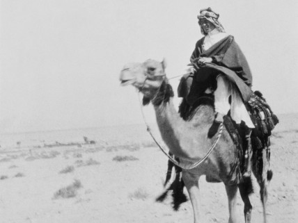 British Army officer Thomas Edward Lawrence, aka Lawrence of Arabia, renowned especially for his liaison role during the Sinai and Palestine Campaign, and the Arab Revolt against Ottoman Turkish rule of 1916–18. (Photo by Pierre Perrin/Sygma via Getty Images)