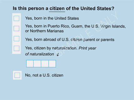 picture regarding Printable United States Citizenship Test named Citizenship and the Census HMH Recent Functions